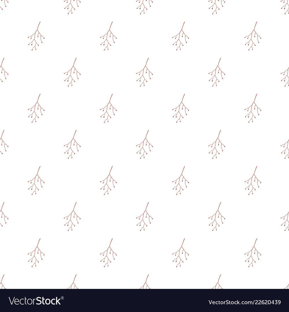 Red plant branch pattern seamless