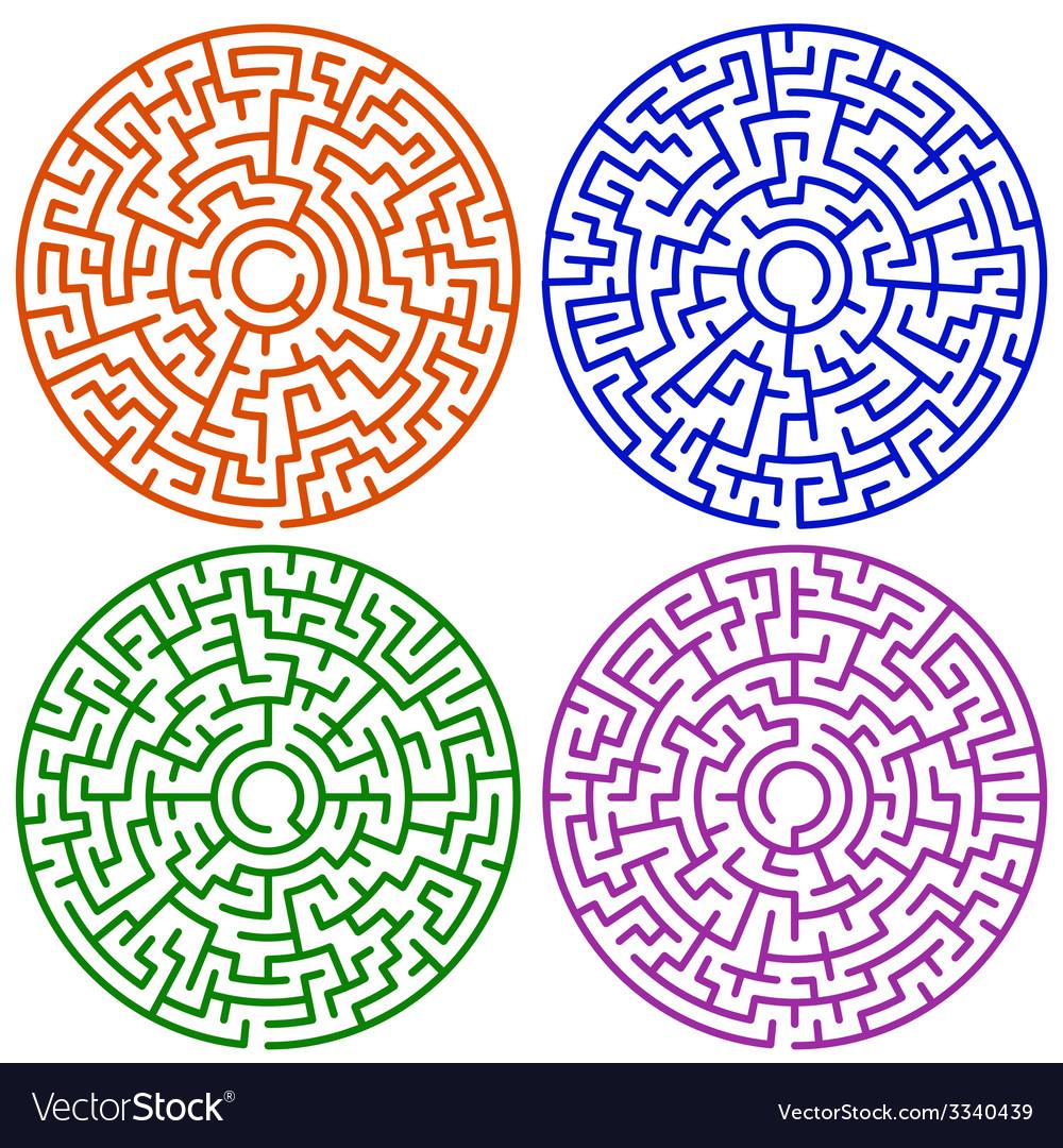 Round maze set