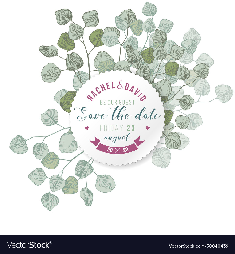 Save date emblem over hand drawn silver dollar