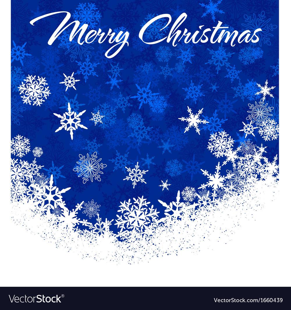 Snowflakes Chrismas Card Blue 2 A