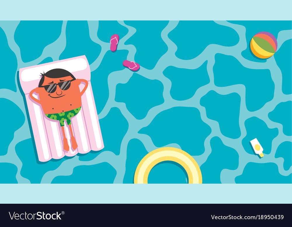 Summer pool man