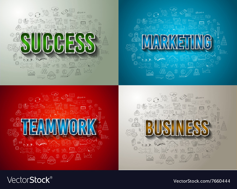 Business Success and Marketing Strategy concept