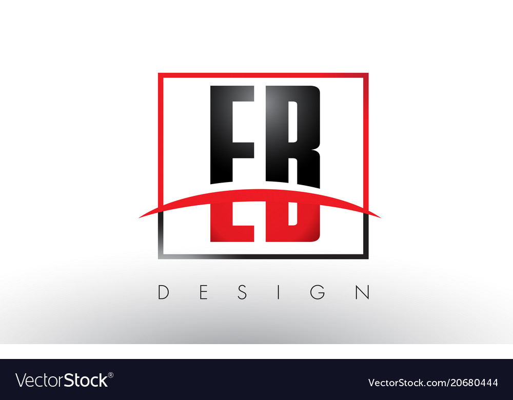 Eb e b logo letters with red and black colors and vector image