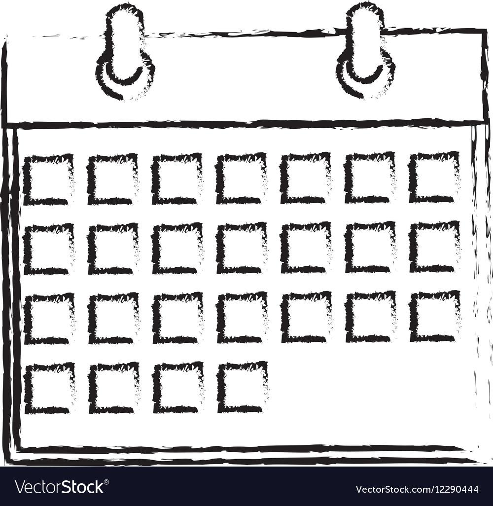Isolated calendar date