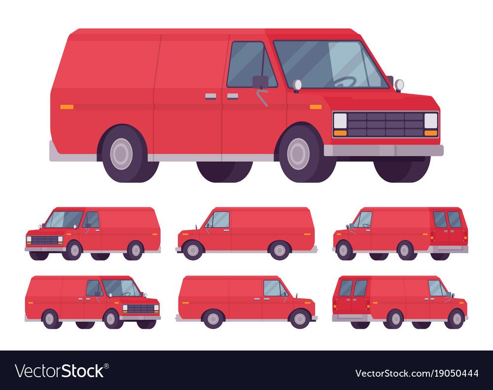 Red van set