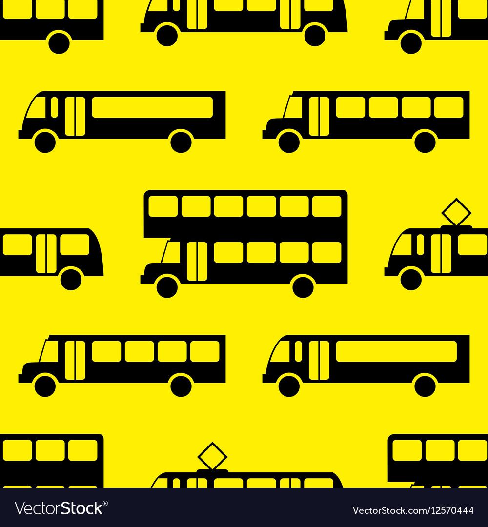 Retro bus seamless pattern