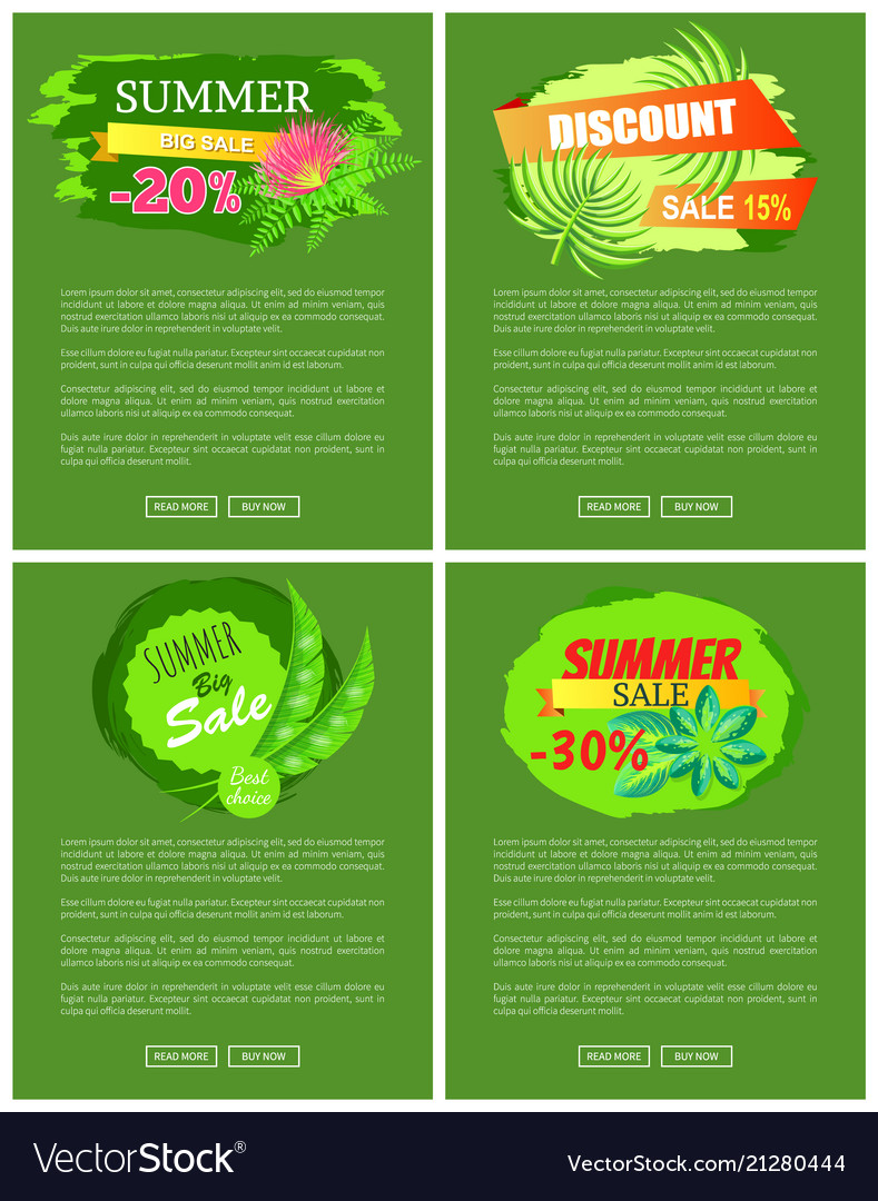 Summer sale collection of web