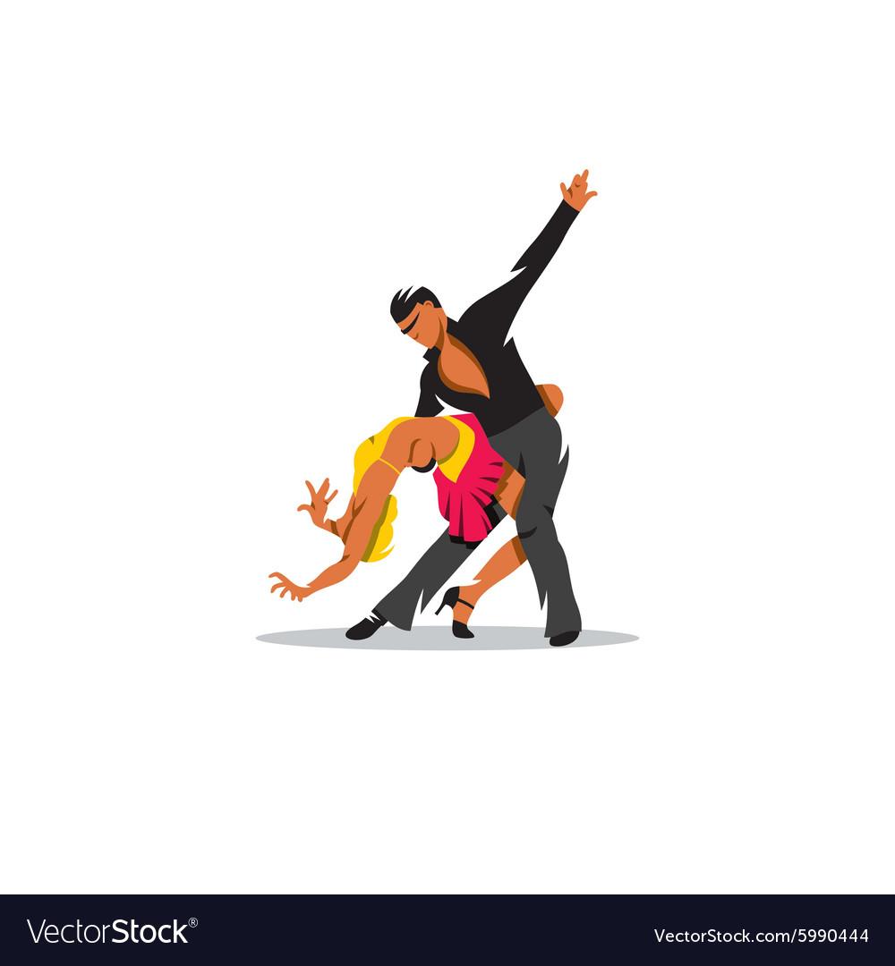 Two elegance tango dancers sign