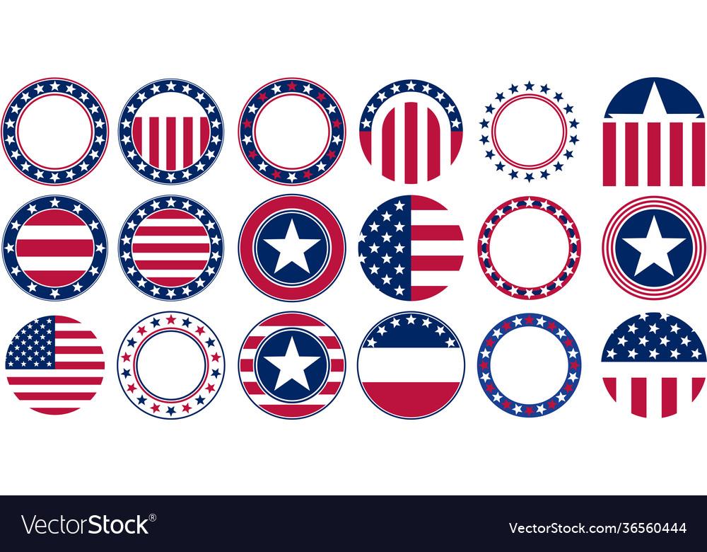 Us flag round