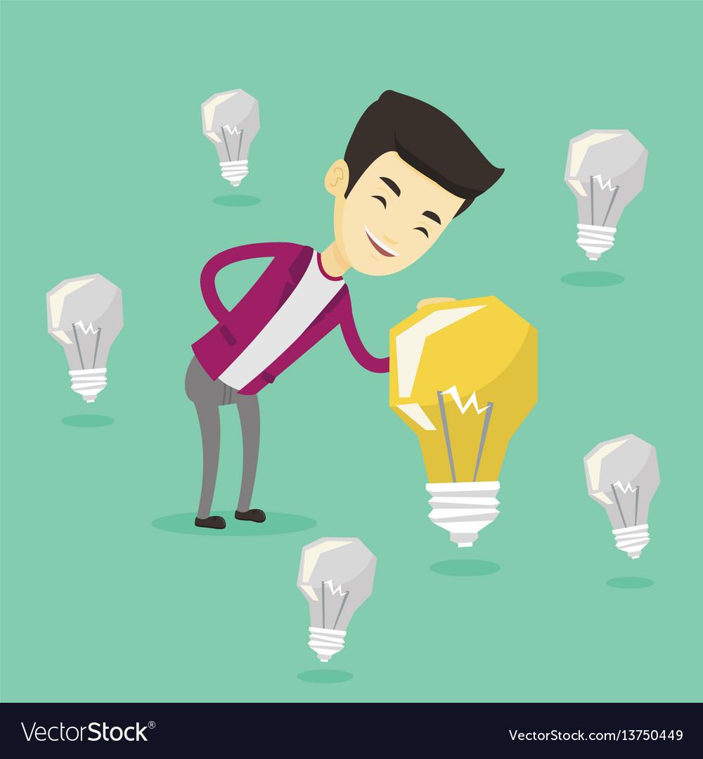 Asian businessman having business idea