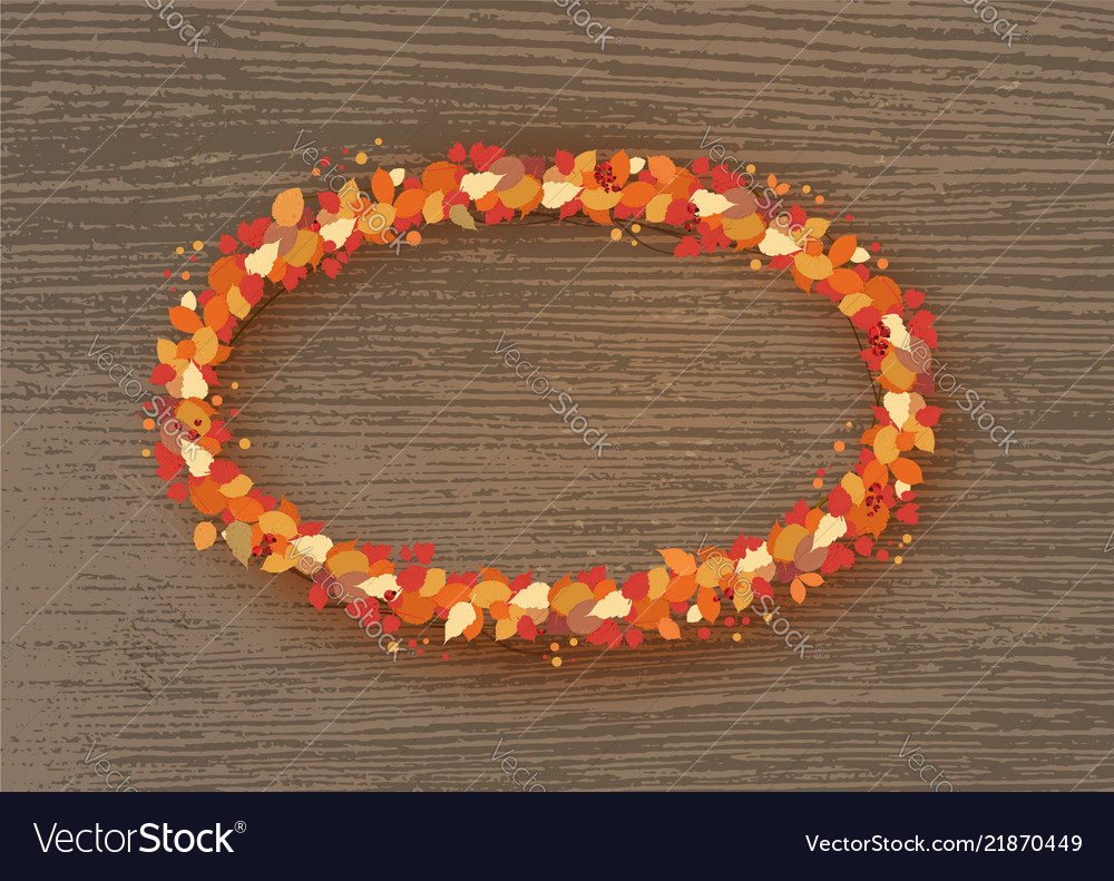 Autumn wreath with leaves