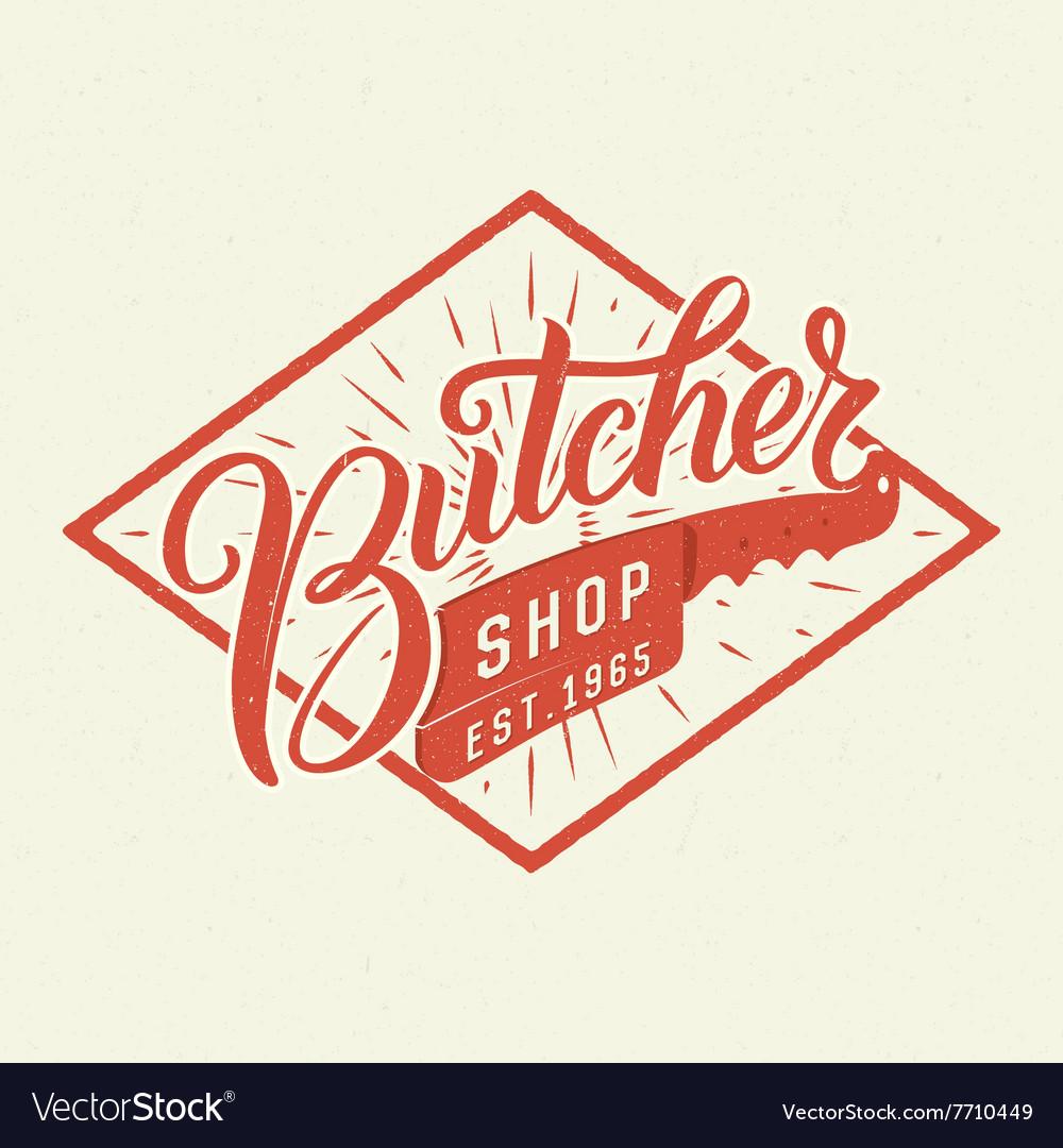 Butcher shop logotype vector image
