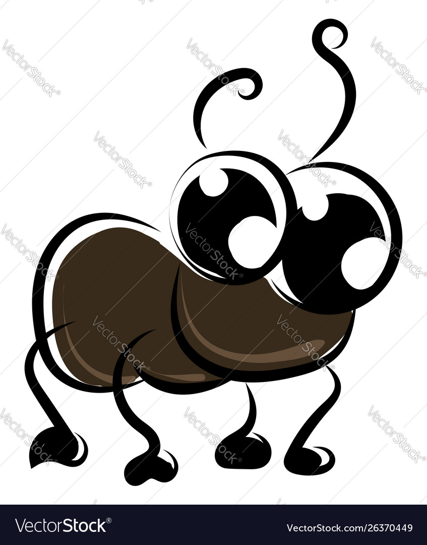 Cute cockroach on white background