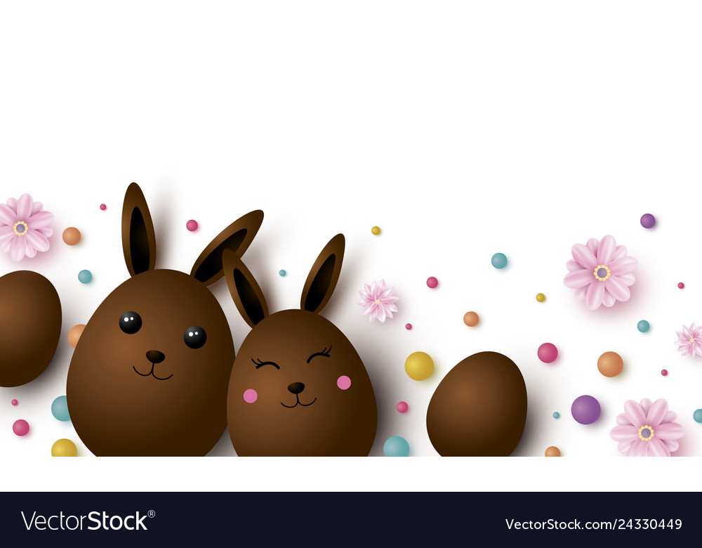 Easter design with copy space