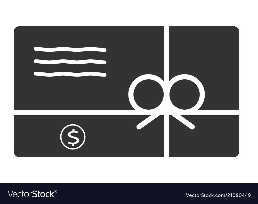 Gift card icon in trendy flat style on white