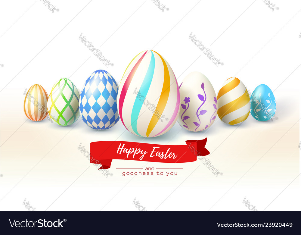 Happy easter design festive greetings cards