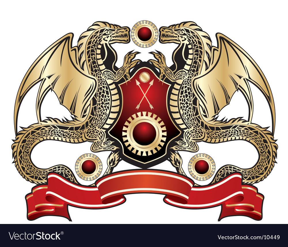 Heraldic dragon sign