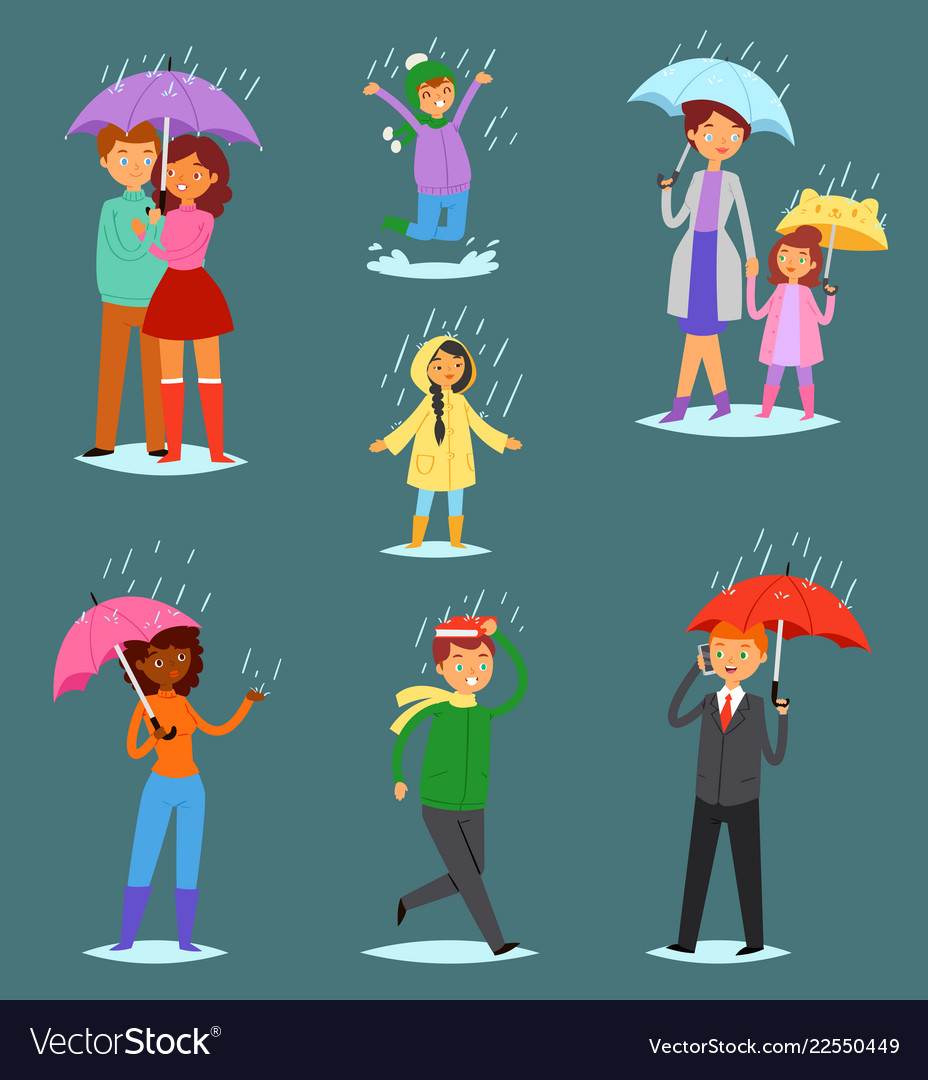 People in rain man woman characters in