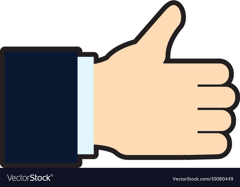 Thumbs up Human hand icon Gesture design vector image on VectorStock
