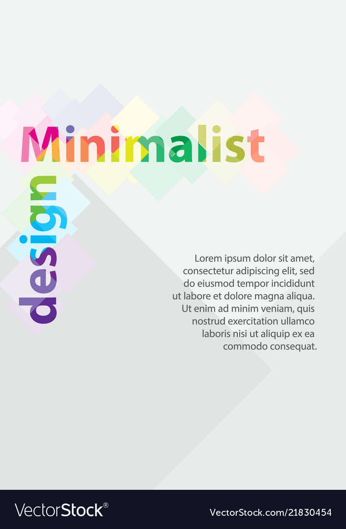 A4 minimal color design postcard flyer poster
