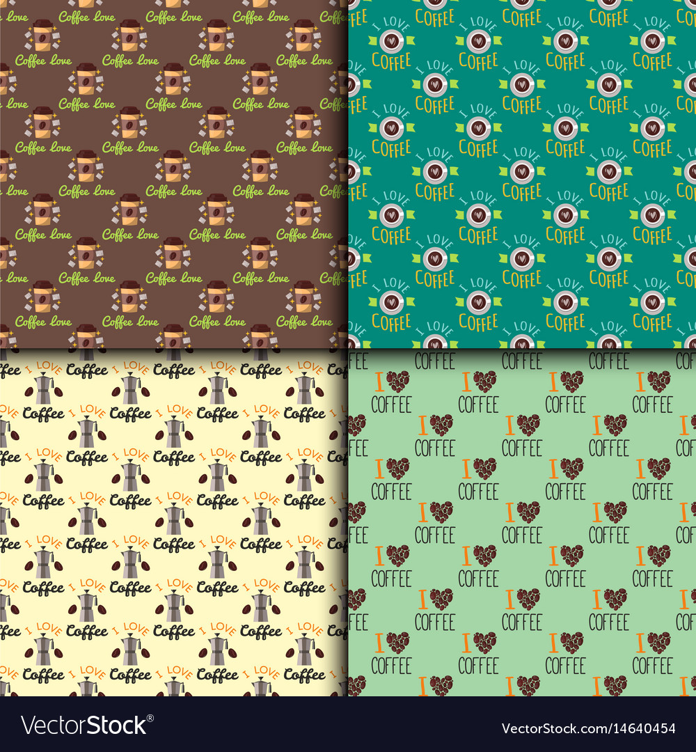 Coffee seamless pattern food hand drawn