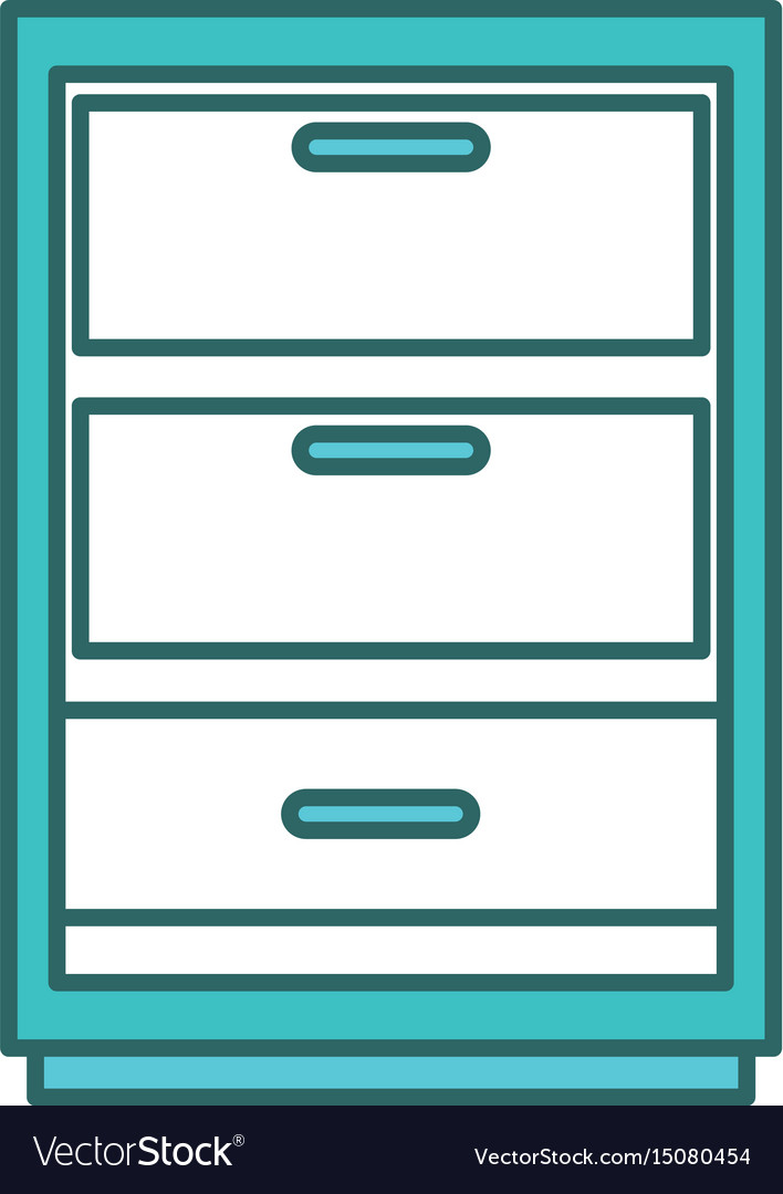 Drawer house isolated icon
