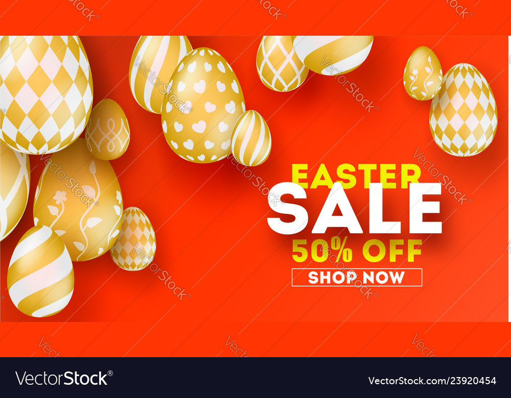 Easter sale special holiday offer set hand