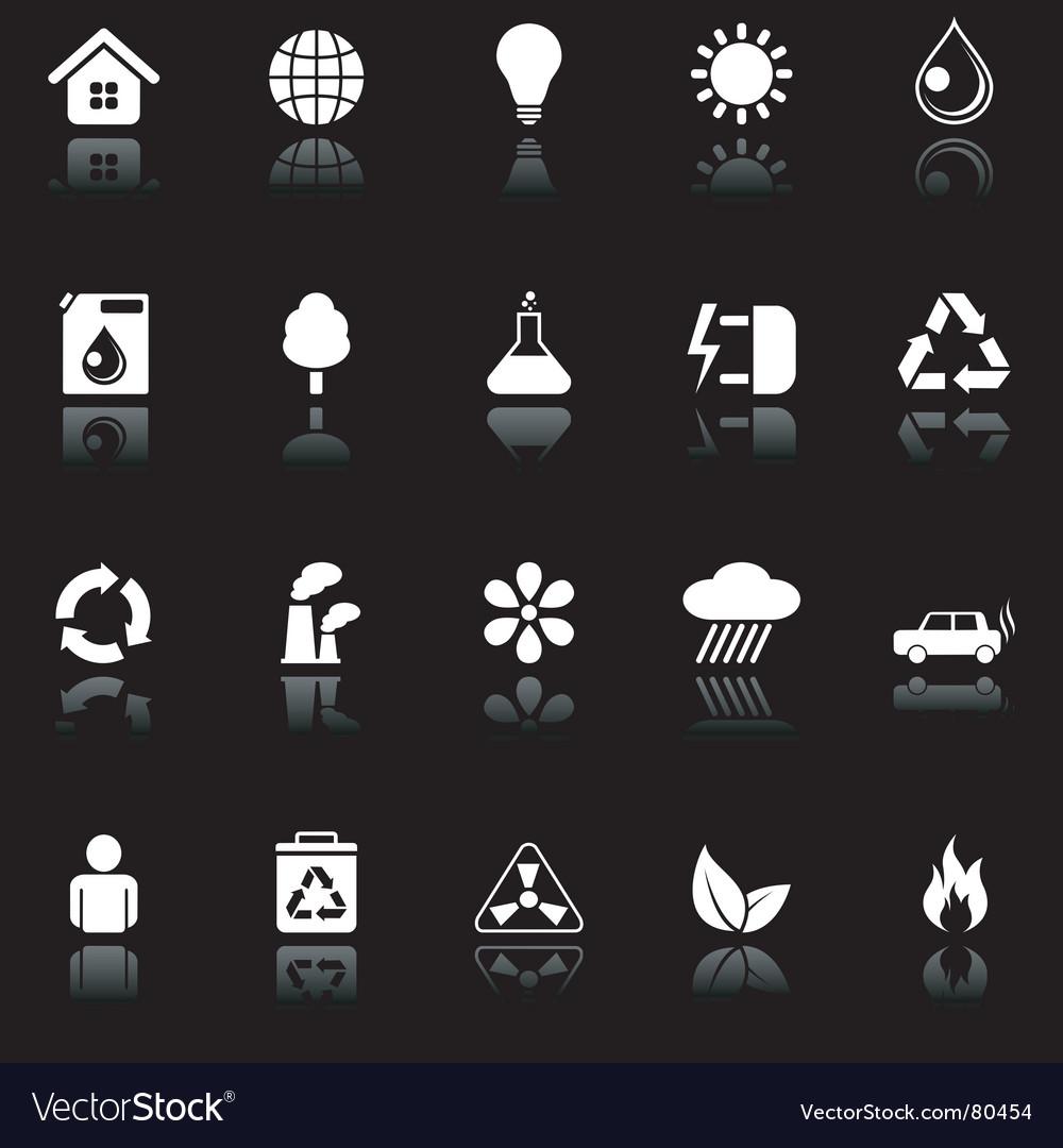 Environmental icons vector image