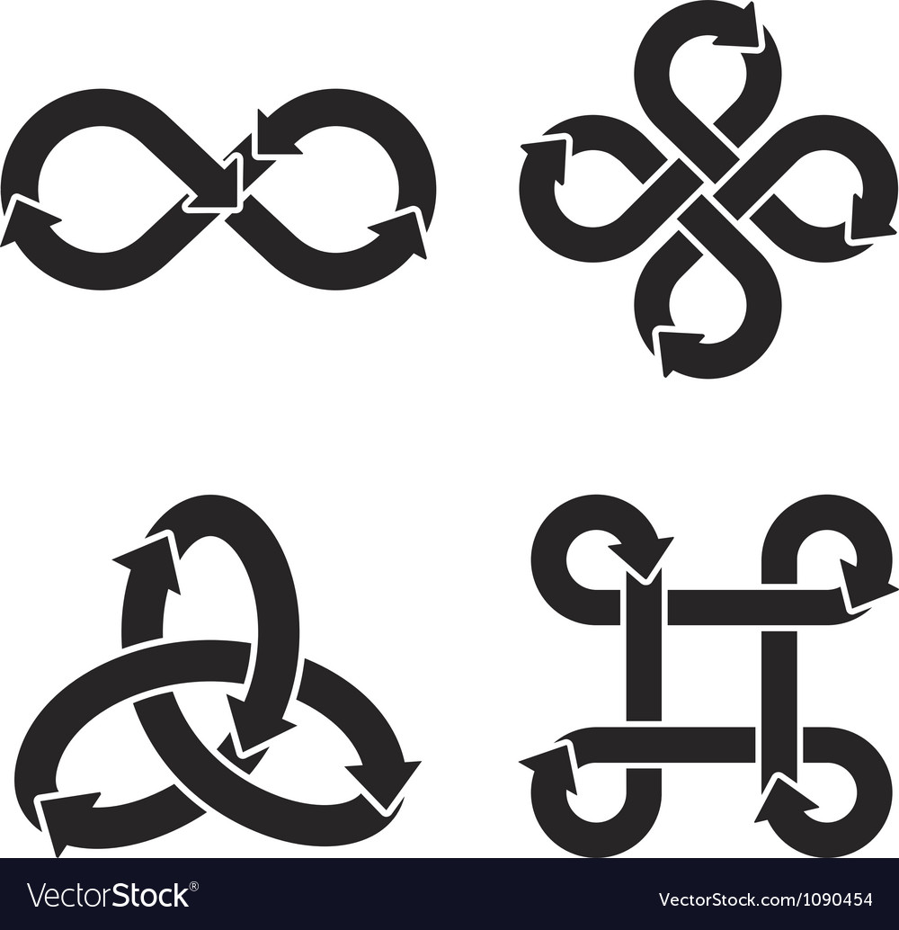 Infinity Symbol Icons Royalty Free Vector Image
