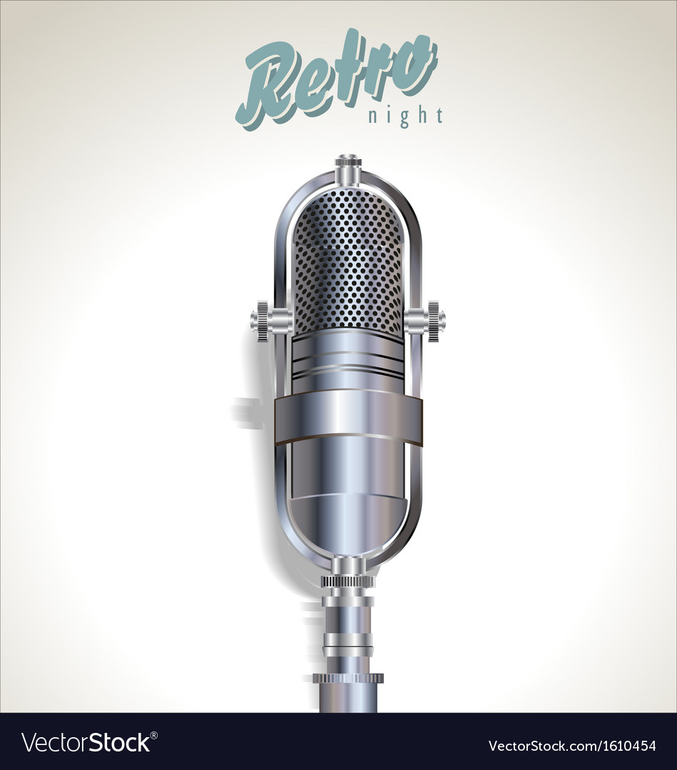Karaoke retro night background vector image