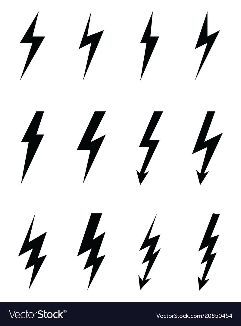 Lighting flash icons