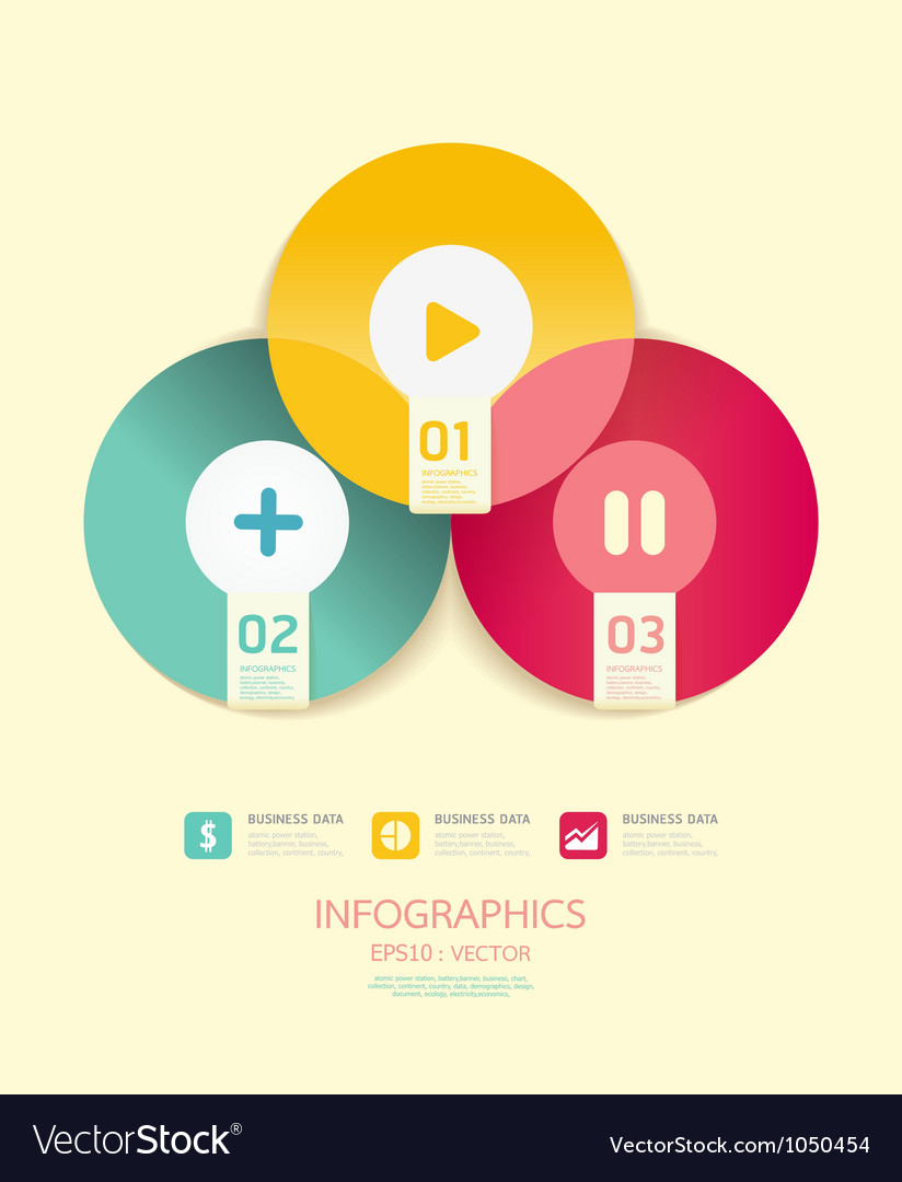 Modern circle design soft color template