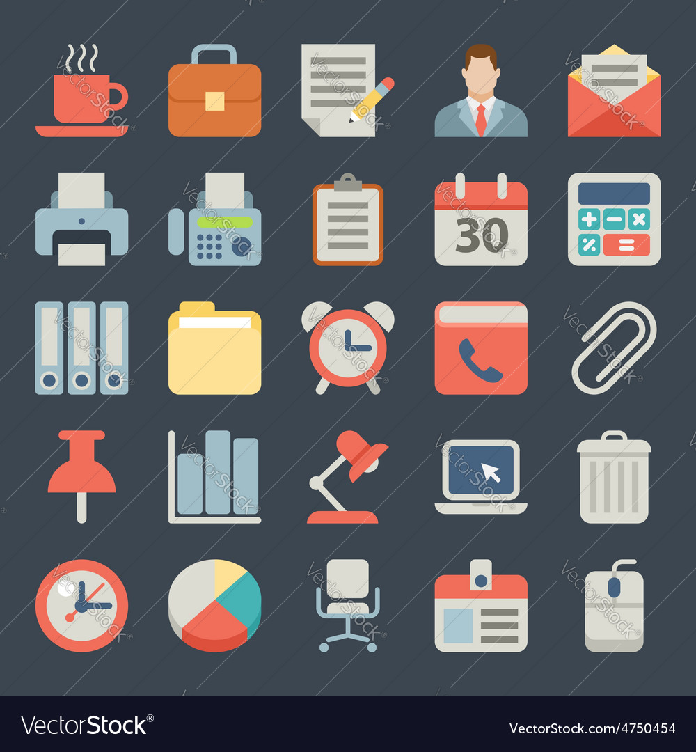 Office and business Flat icons for Web Mobile