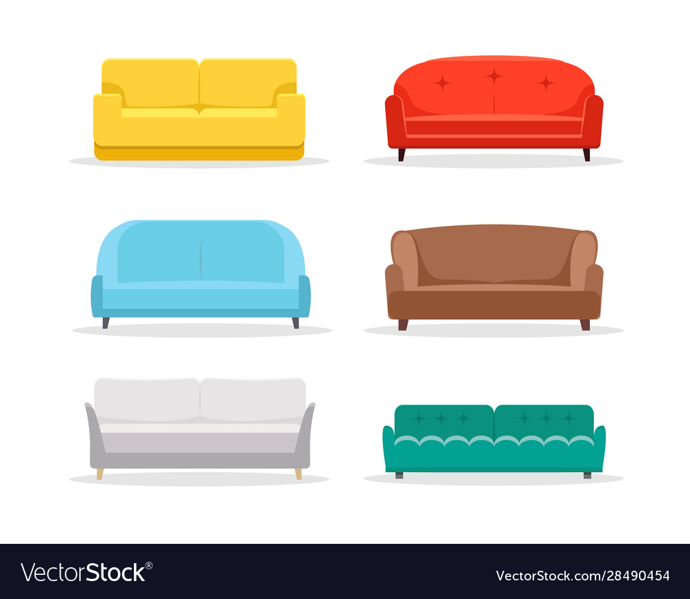 Sofa flat icon furniture interior couch