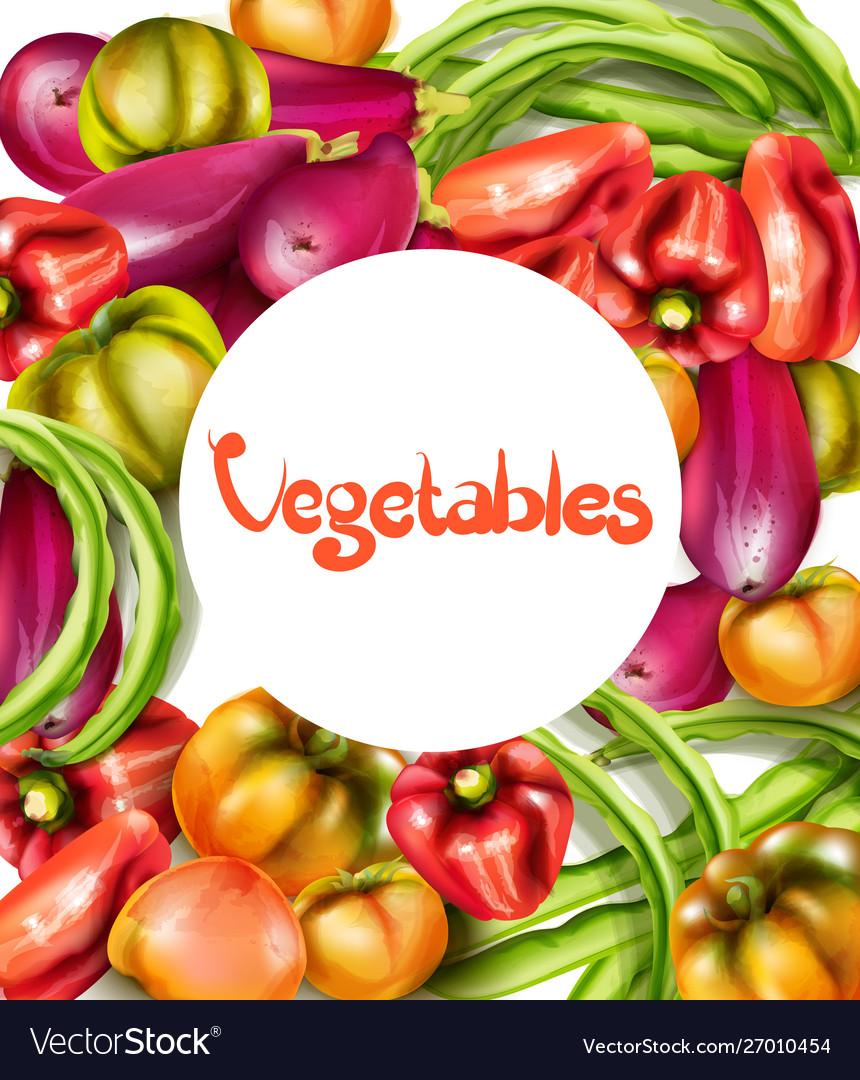 Vegetables eggplant pepper yellow tomatoes