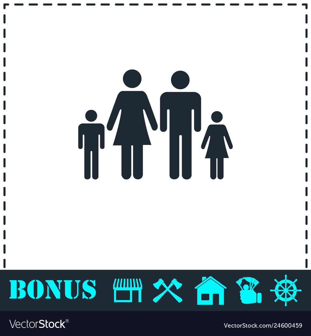 Family icon flat