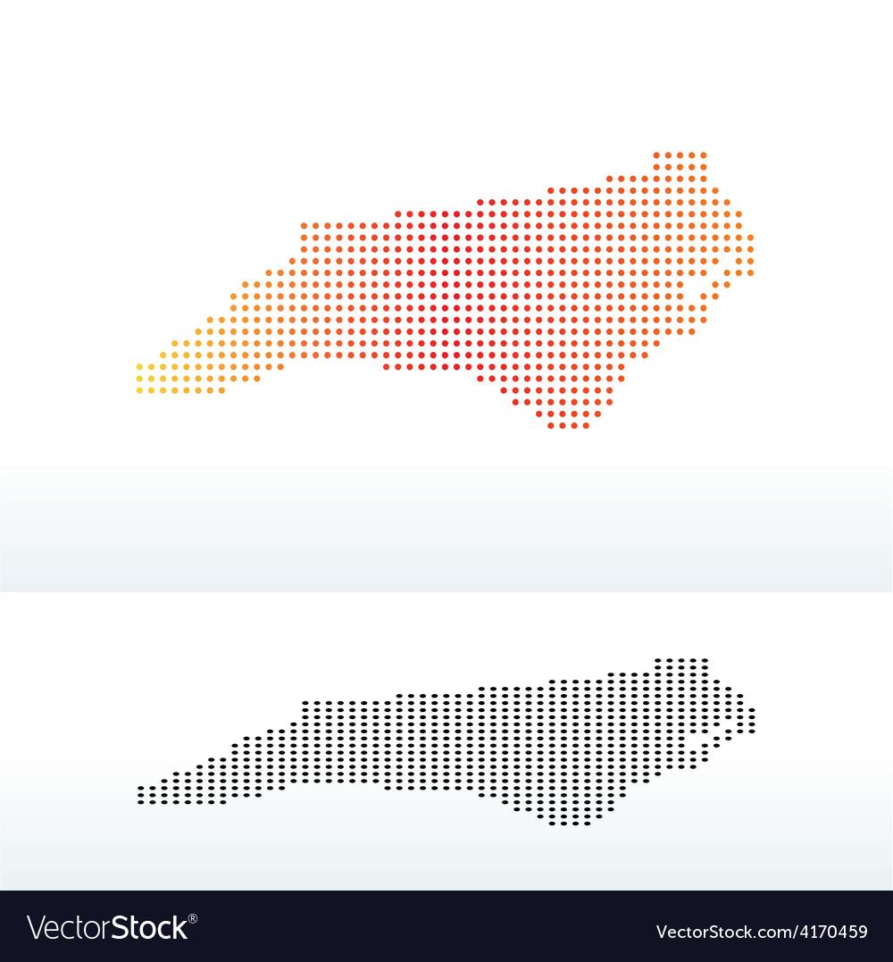 Map of USA North Carolina State with Dot Pattern