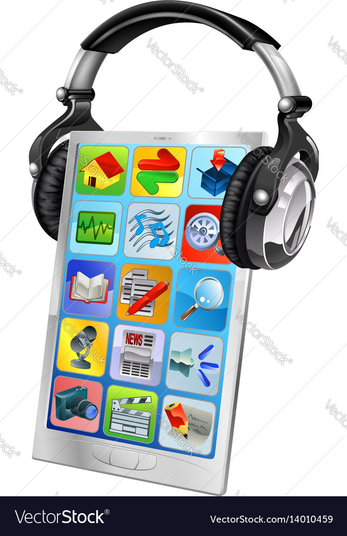 Mobile phone music headphones
