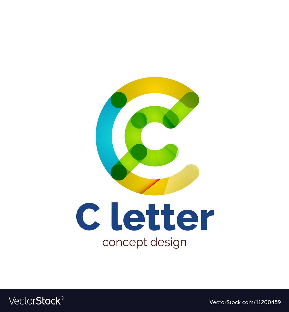 Modern minimalistic letter concept logo vector image