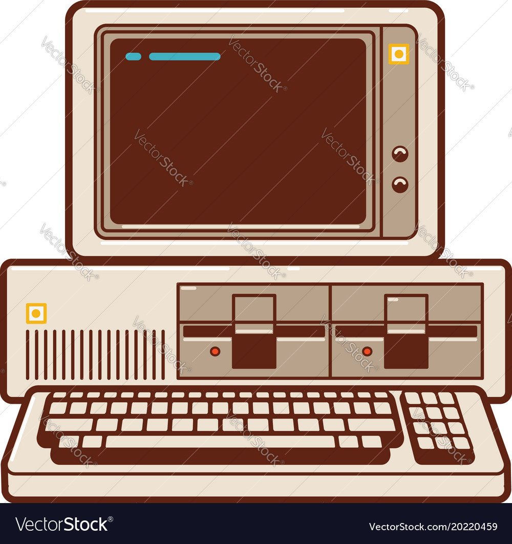 Old classic pc personal computer from 1981