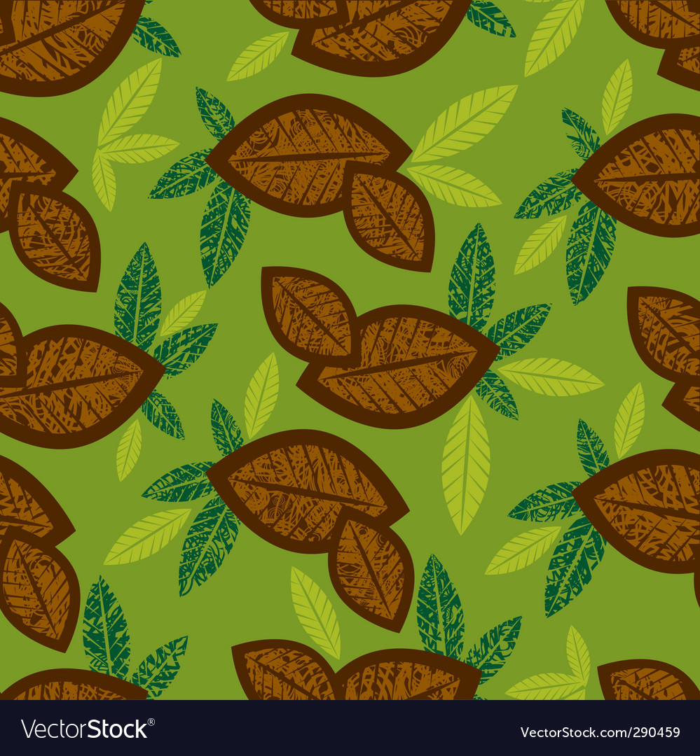 Seamless floral pattern with coffee