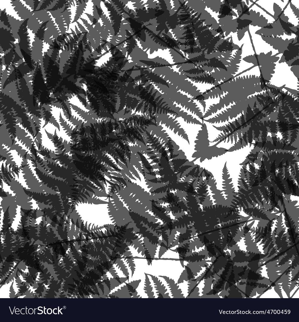 Seamless pattern of fern leaves