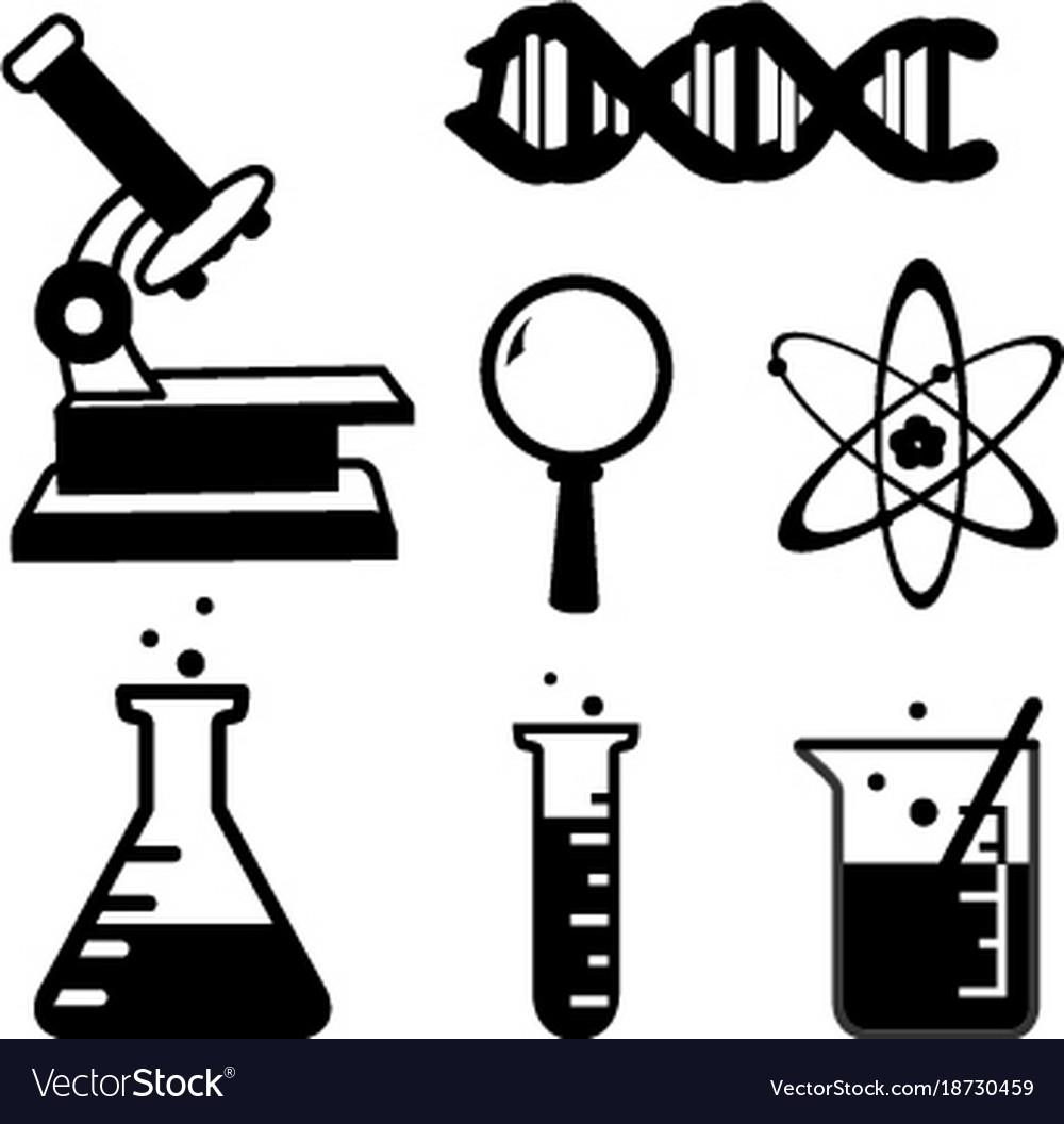 vector icon science cartoon lab stuff icons