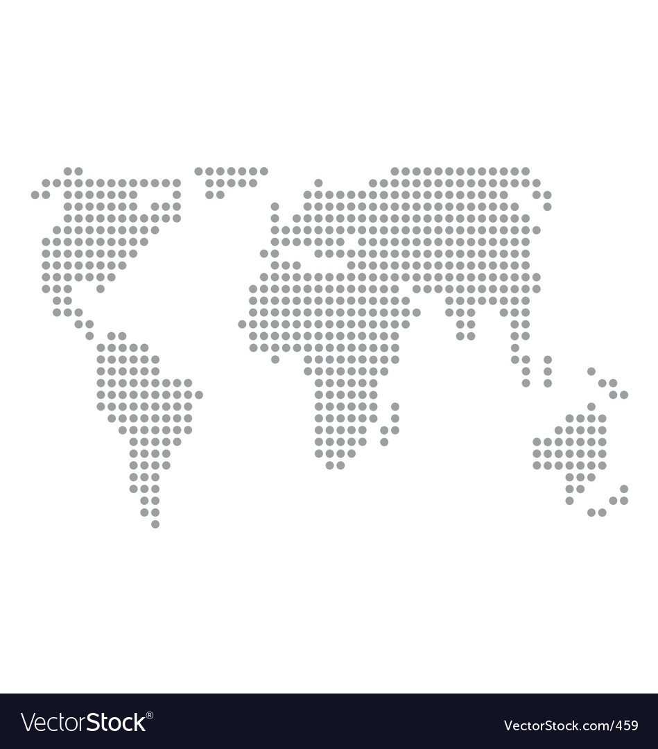 World map basic dots Royalty Free Vector Image