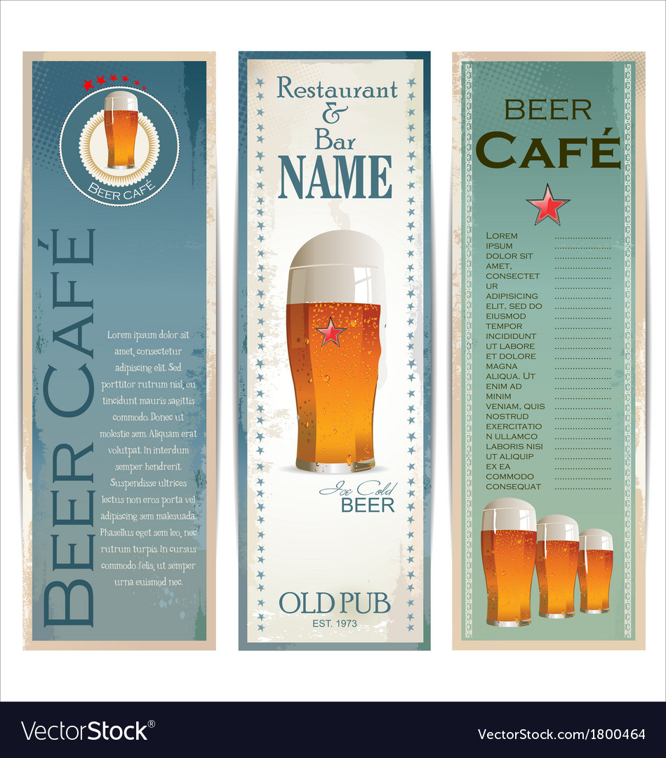 Beer cafe design template