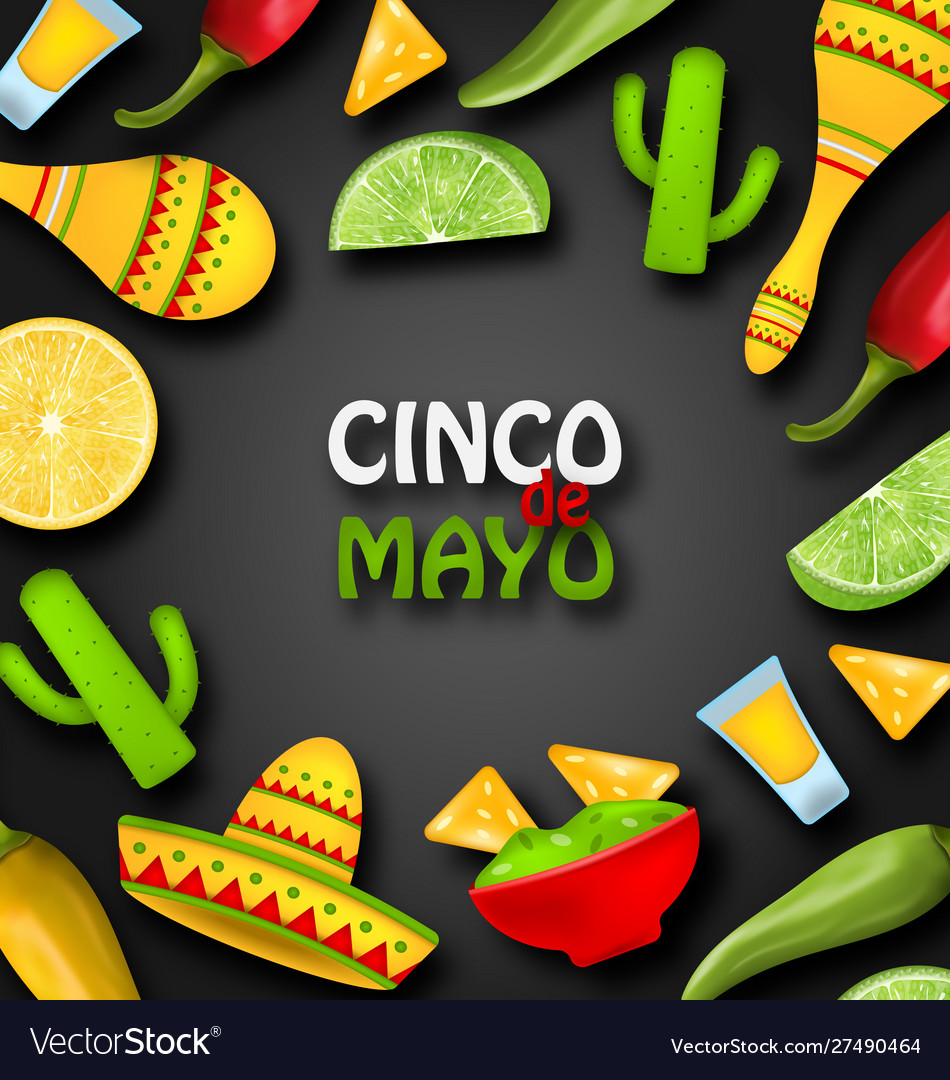 Holiday celebration banner for cinco de mayo with