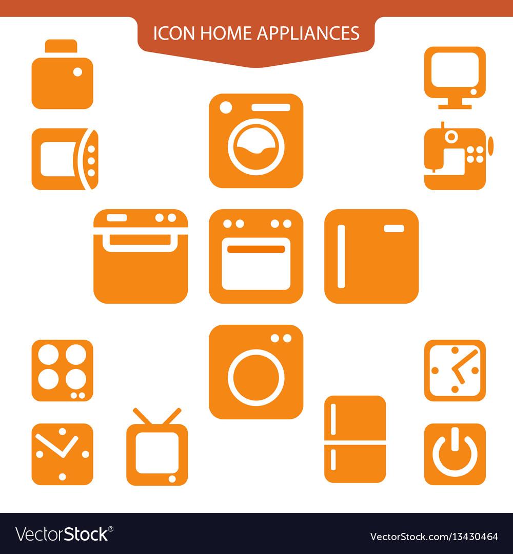 Set icons home appliances