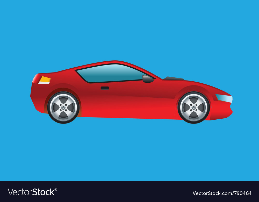 Sports Car Red Royalty Free Vector Image Vectorstock