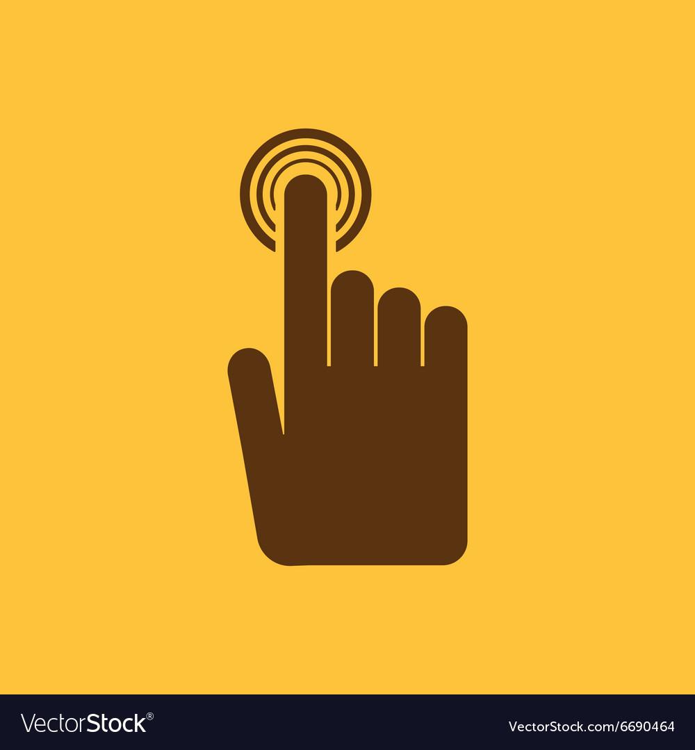The Hand Click Icon Cursor Symbol Flat Royalty Free Vector