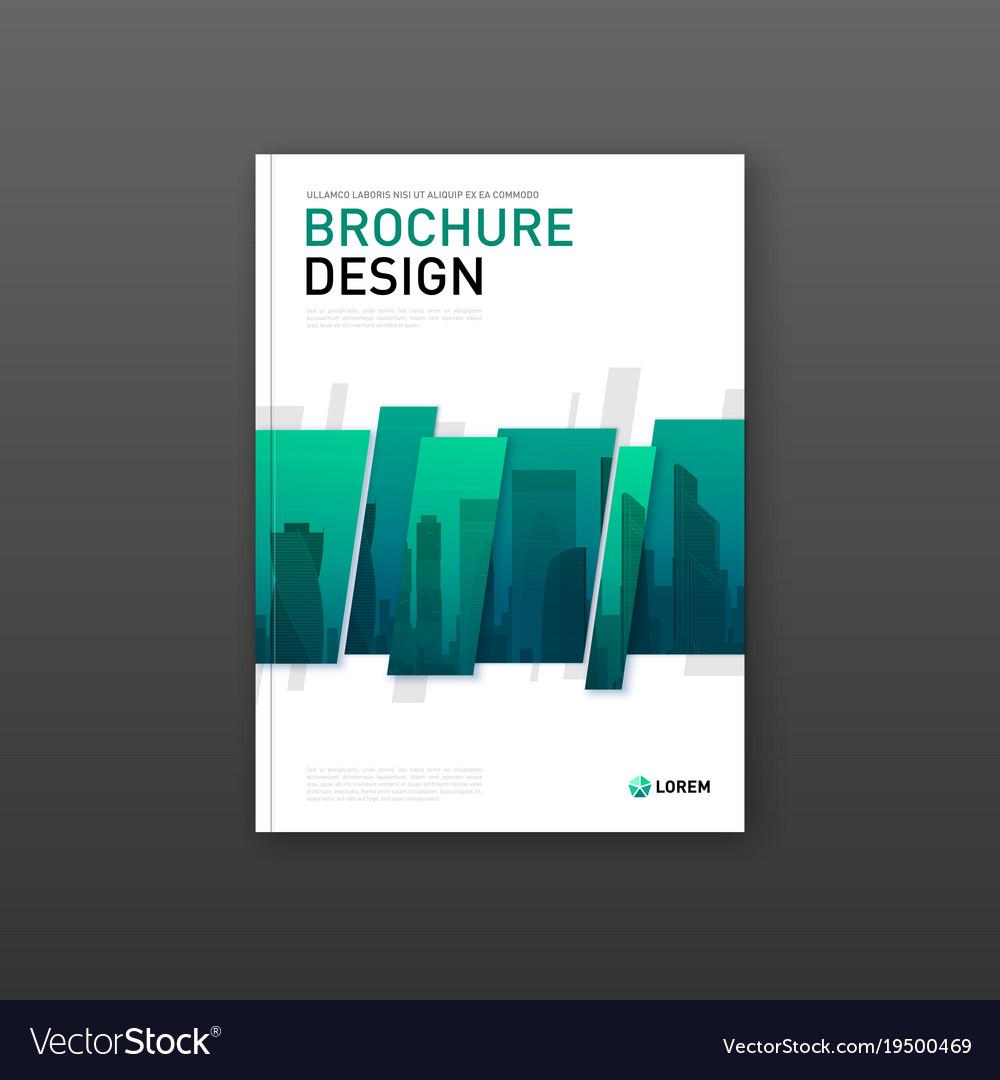 Company Brochure Cover Design Layout Vector Image On Vectorstock